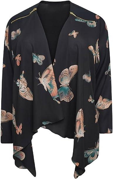 Islander Fashions Mujeres Mariposa Zip Chif n Kimono Top ...