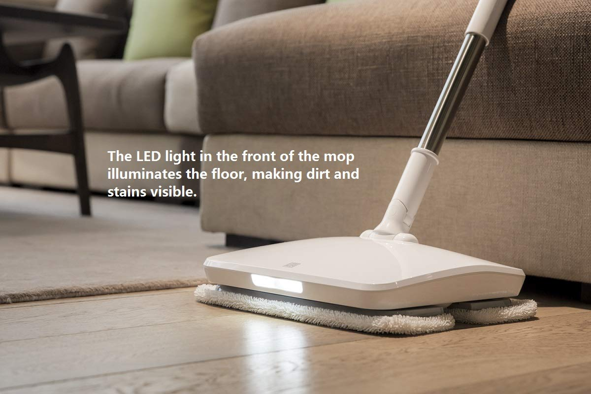 SWDK Electric Handheld Cordless Mop Floor Cleaning for Mopping All Surfaces Rechargeable, Rubbing Frequency Up to 1000 Times Per Minute D260 (Mop) by SWDK (Image #6)