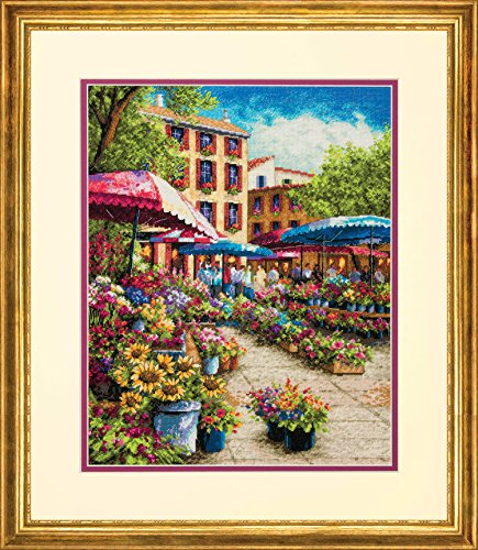 18k Green Cross - Dimensions Cross Stitch Kit Provence Market