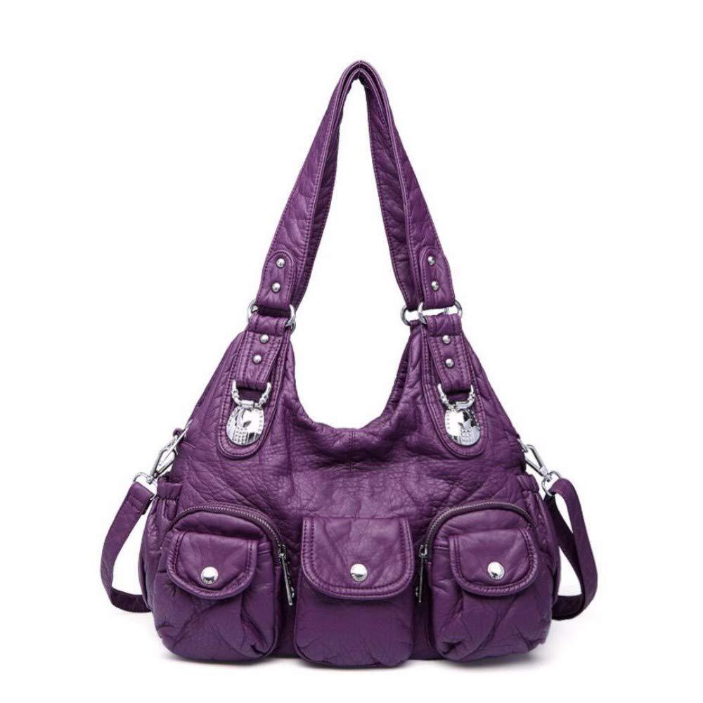 Fashion lady bag soft handbag simple one-shoulder bag inclined bag