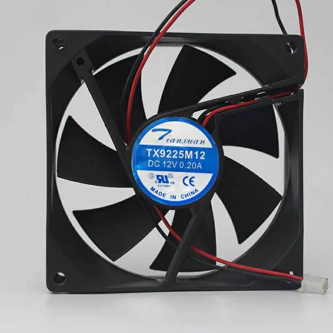 For Tianxuan TX9225M12S 12V 0.20A 9CM 9025 2-wire power supply/refrigerator cooling fan