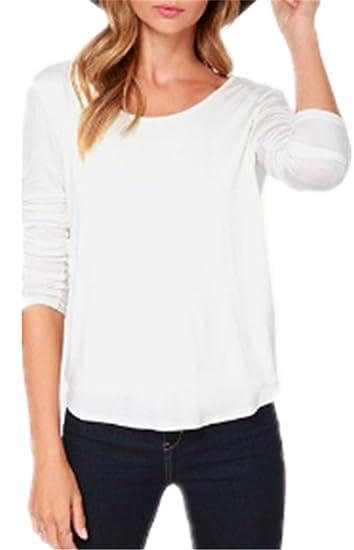 Mujeres Camisetas De Manga De Cuello Redondo Sexi Slim T Shirt Blusas Camisas Sweatshirt Tops