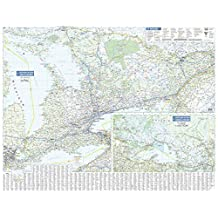 Ontario Wall Map - South Portion with Northern Ontario Inset - 40.25 x 31.25 inches - Paper - Flat Tubed