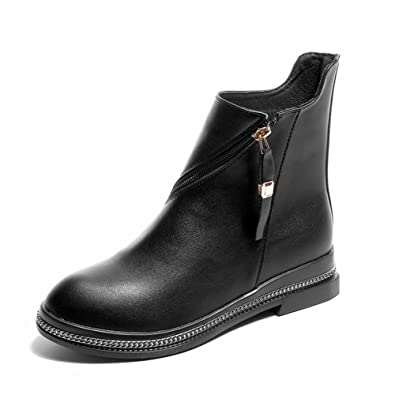 913365a925b1f Amazon.com | CYBLING Fashion Black Round Toe Zipper Ankle Booties ...