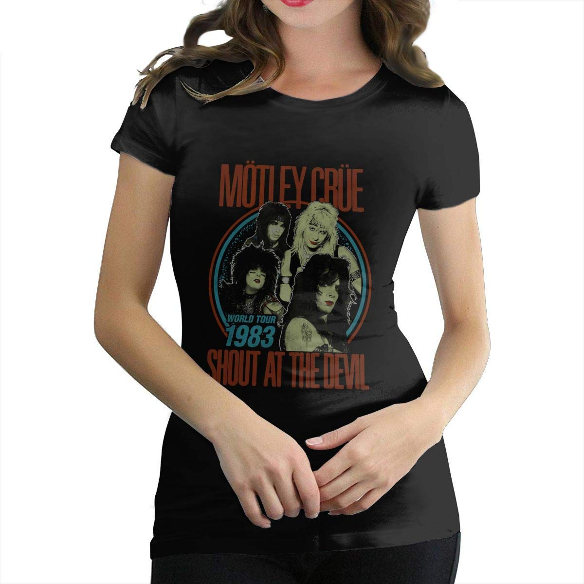 Ocilgc Motley Crue Shirt Round Neck Short Sleeve Tee For S