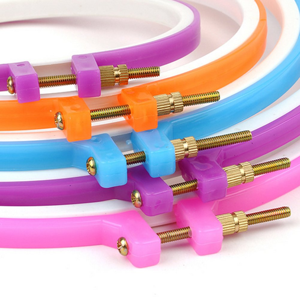 paquete de 6 Assorted Colors Umsole set de 6/aros de bordado de punto de cruz para bricolaje 6/tama/ños. manualidades
