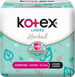 Kotex Fresh Ultrathin Anti-Bacterial Longer and Wider Feminine Care Liners, 23ct