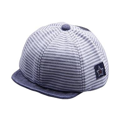 fc1008e11211 GUBENM enfant Chapeaux Casquettes, bonnets - Bébé garçon fille été chapeau  de soleil rayé casquette