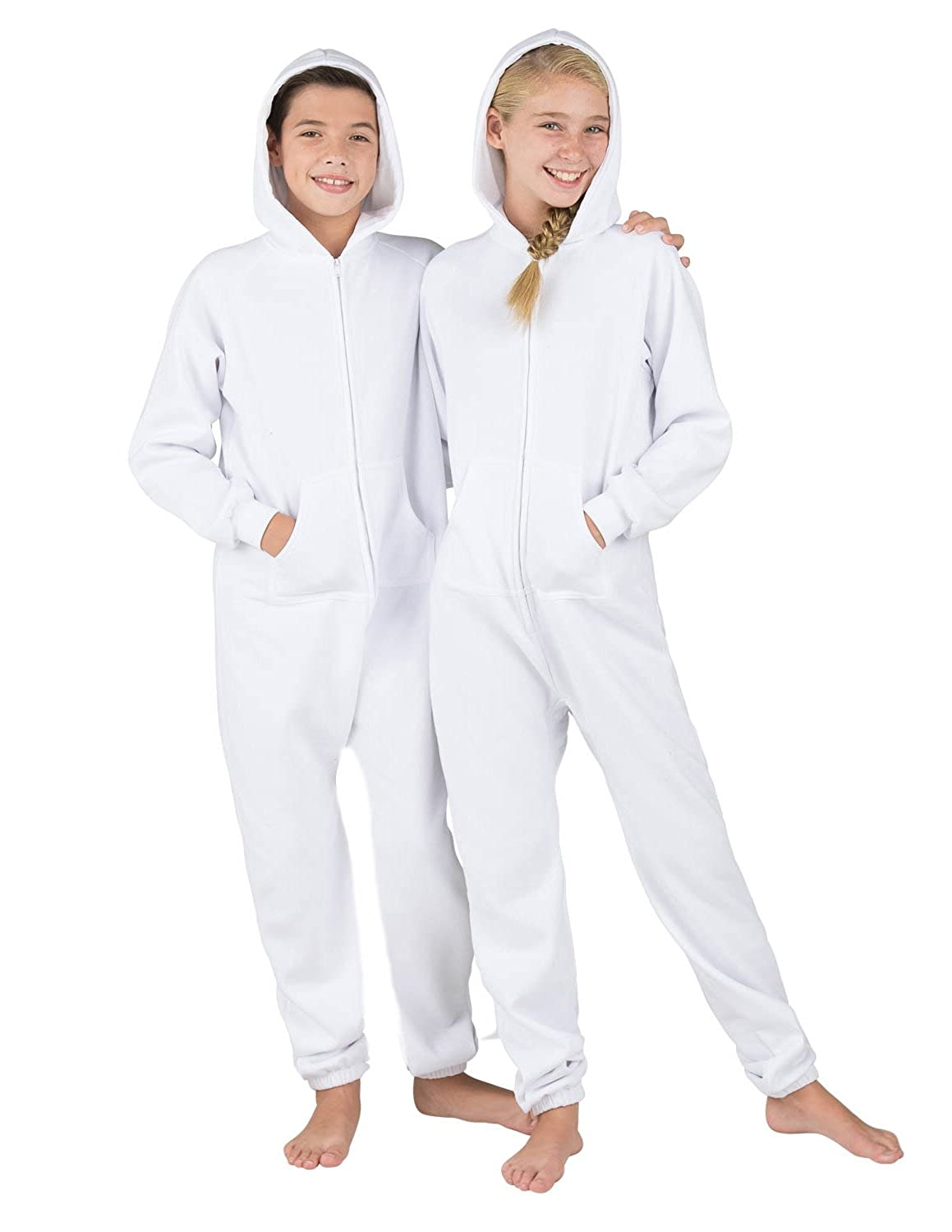 Footed Pajamas White Frosting Kids Footless Hoodie One Piece