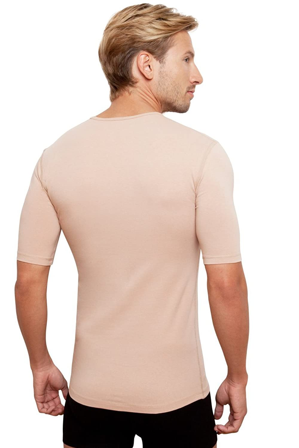 Invisible Crew neck undershirt for men in skin colour (nude)
