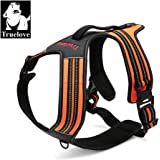 Truelove TLH5551 Dog New Design,No-pull Dog Harness with handle Soft Padded Pet Harness Vest,3M Reflective Material,Adventure Training Harness,Strong Oxford Outer Layer for larger dogs,5 Colors and 5 Sizes Now Available (XL, Orange)