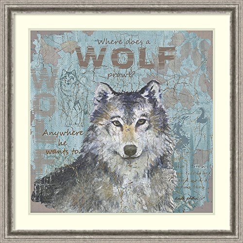Framed Art Print 'Where Does a Wolf Prowl' by Anita Phillips