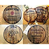 Personalized whiskey barrel top, Rustic sign | Customized Gift for men | Best Man Gift | Husband Gift | Dad Gift