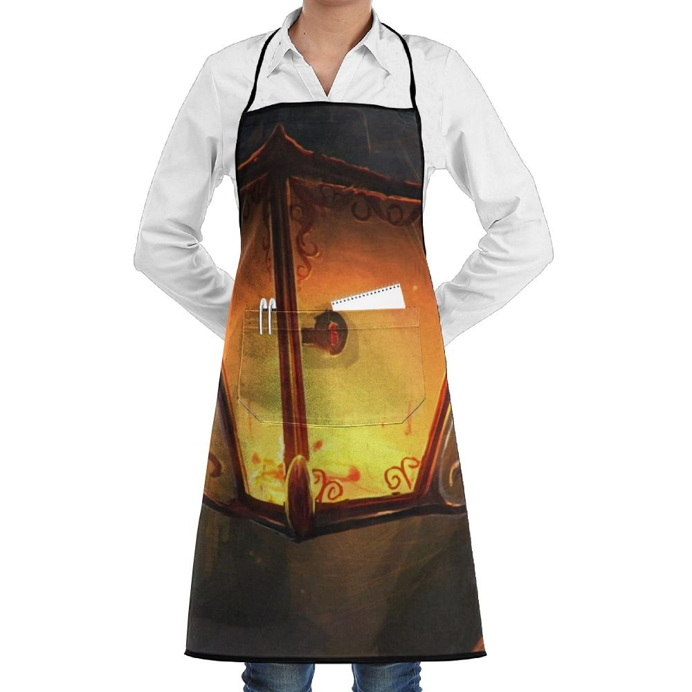 Novelty Magic Lantern Light In Forest Kitchen Chef Apron With Big Pockets - Chef Apron For Cooking,Baking,Crafting,Gardening And BBQ