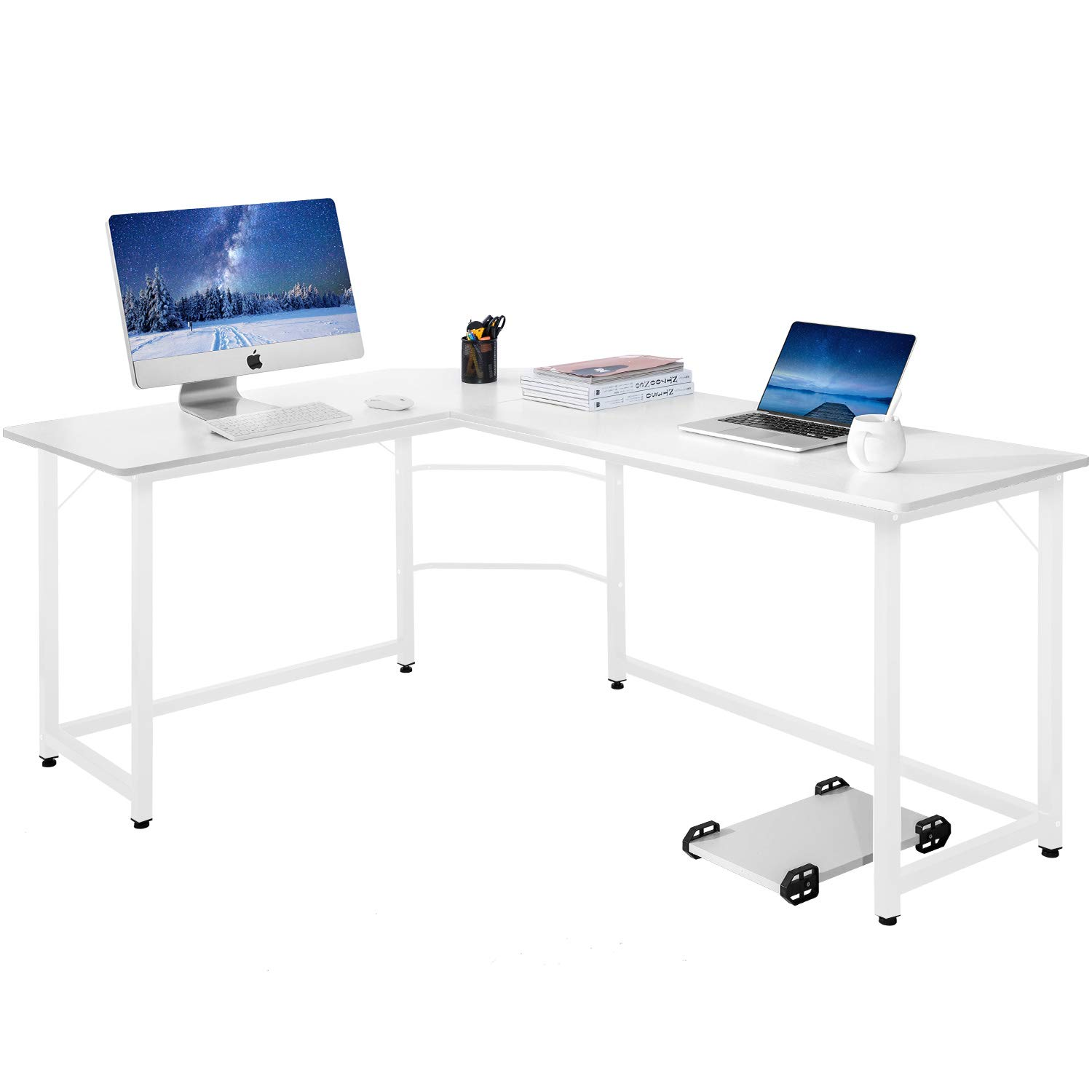 Amazoncom Modern Luxe L Shaped Desk Corner Computer Pc Table Workstation
