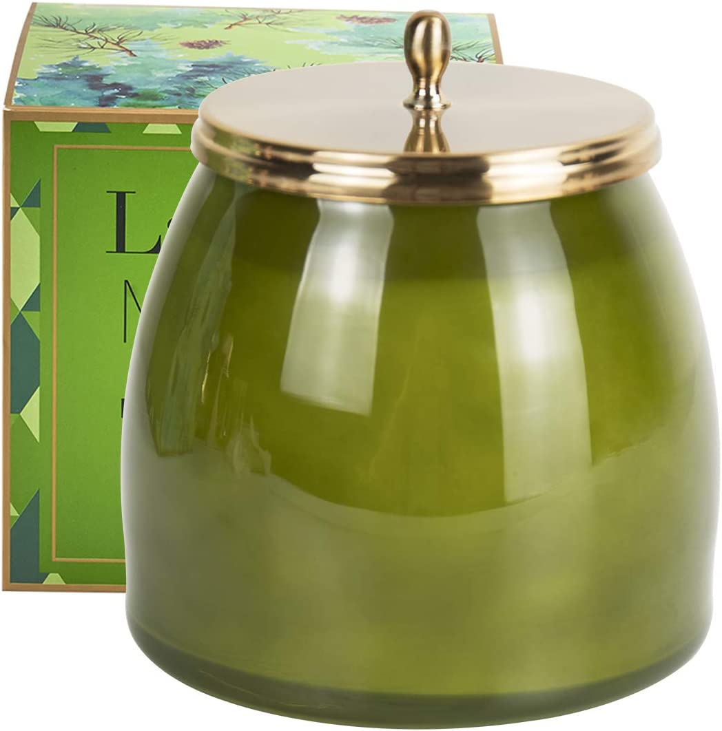 Gift Candle for LA JOLIE MUSE Wood Wick 21Oz Sandalwood Scented Candles Soy Wax Candle Large Glass Jar 90 Hours