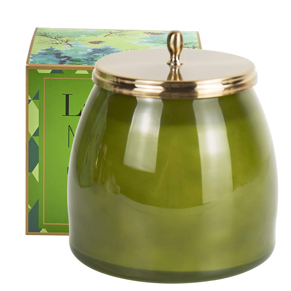 LA JOLIE MUSE Pine Scented Candle Balsam Cedar Fir Large Glass Jar Candle, Christmas Candle, Holiday Candle, Natural Soy Wax, 18.34OZ