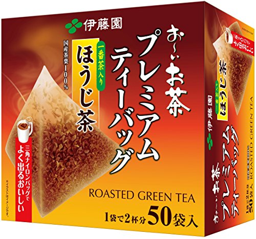 Itoen Hojicha (Roasted Green Tea) Premium bag Pack of 50 (Itoen Tea)