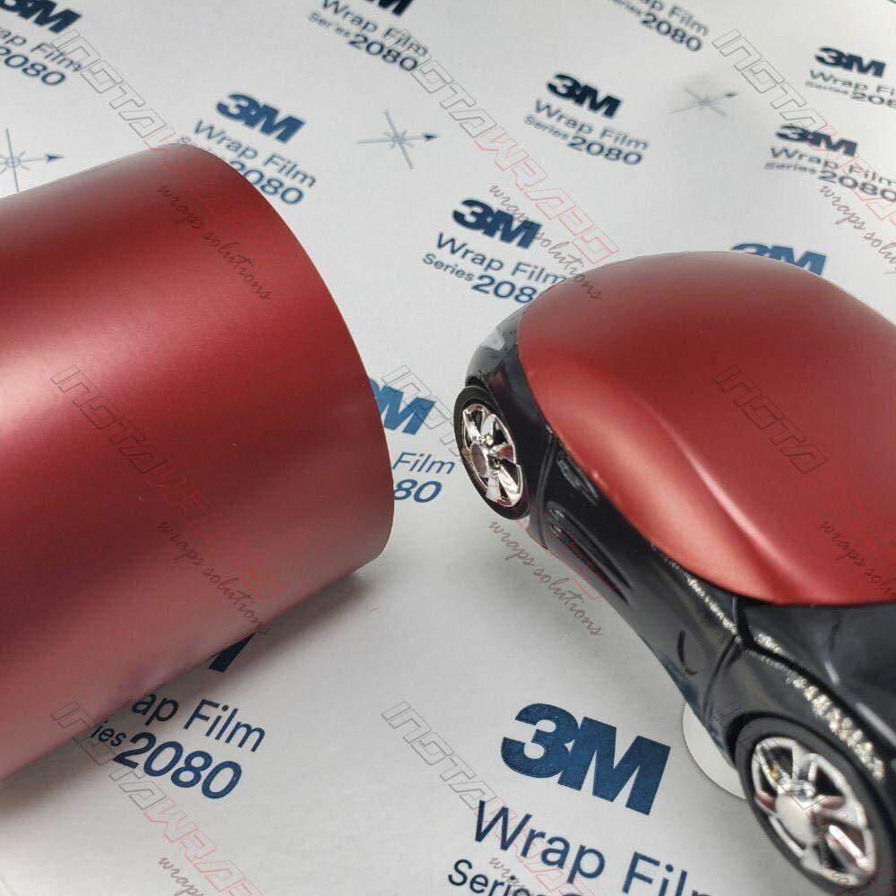 3M 1080 Satin Vampire Red | SP273 | Vinyl CAR WRAP Film (Sample 2.5in x 4in)