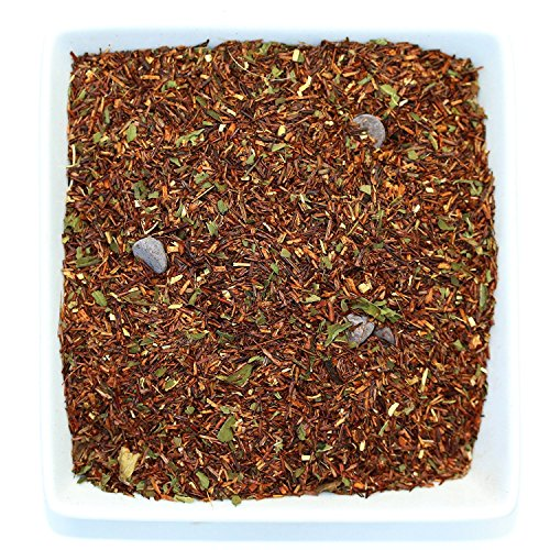 Tealyra - Chocolate Mint Rooibos - Red Bush Herbal Loose Leaf Tea Blend - Cocoa and Peppermint - Caffeine-Free - Relaxing - All Natural Ingredients - 220g (8-ounce)