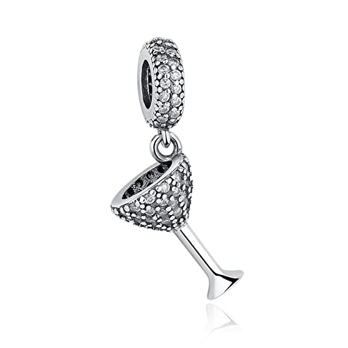 45f2709019c Eternalll Jewellery Red Wine Glass Cup Cubic Zirconia Cup Dangle Bead for Pandora  Charm Bracelets Original Authentic 925 Sterling Silver Charms Love ...