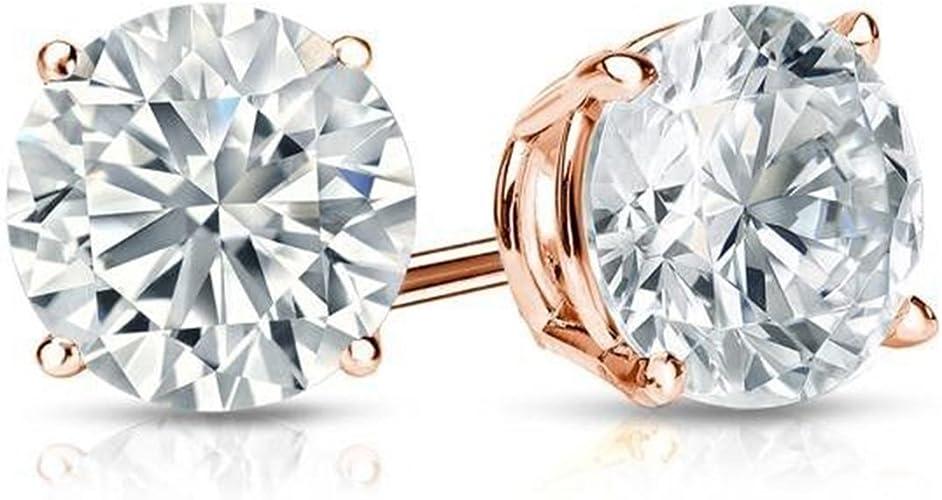 8.MM Round Brilliant Cut Lab-Grown Loose Diamond 1.90ct FANCY D-White//VVS1