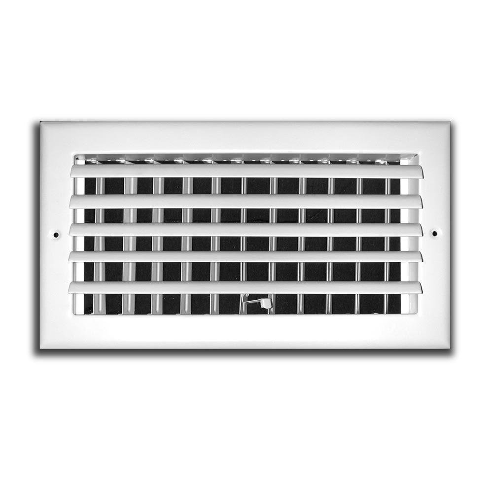 TruAire 12 in. x 6 in. 1 Way Aluminum Adjustable Curved Blade Wall/Ceiling Register