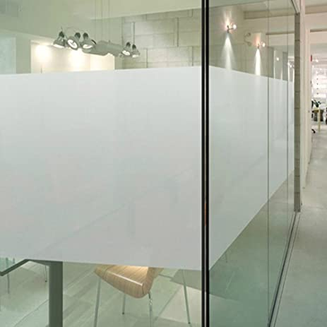 Color Your World Plastic Static Cling Window Film Adhesive Free White  Frosted Privacy Window Covering Film
