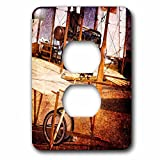 3dRose Alexis Photography - Transport Air - Abstracts of aviation - Engine and gear of ancient flying machine - Light Switch Covers - 2 plug outlet cover (lsp_271985_6)