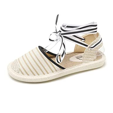 fdabc47764f2 DENER Women Ladies Girls Summer Flat Sandals Espadrilles