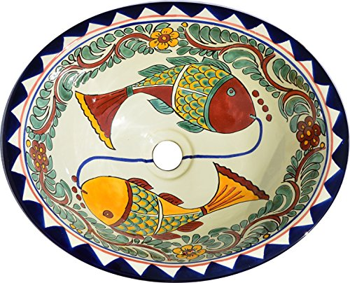 - Talavera Mexican Handmade Hand Painted Sink MX34