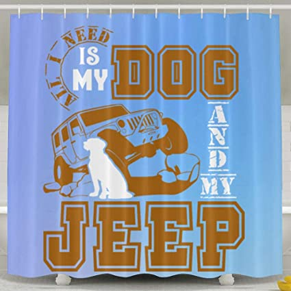 Image Unavailable Not Available For Color Dog My Jeep Custom Shower Curtain Hooks