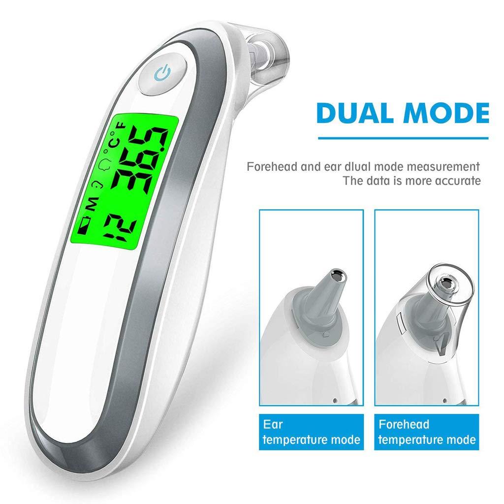 BL ni/ños Fahrenheit y Celsius Converti Term/ómetro Digital para Oreja y Frente term/ómetro infrarrojo m/édico para beb/és Adultos huiouer