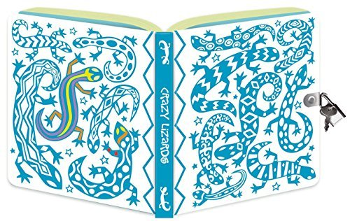 Paperboard Cover Journal - Peaceable Kingdom Crazy Lizard Color-In Shiny Foil Cover 6.25