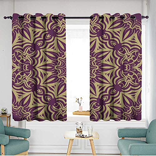 - Kids Curtains Seamless Floral Pattern Abstract Design for Wallpaper Textile Print Interior Design Vector illustration3 Room Darkening, Noise Reducing W 72