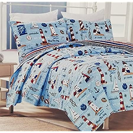 61E8V%2BauX6L._SS450_ 100+ Nautical Quilts and Beach Quilts