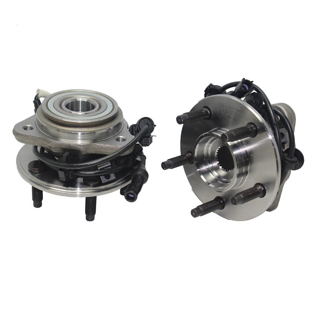 Detroit Axle - 4x4 Front Wheel Hub and Bearing Assembly w/Round ABS Wire fits 4x4 Only [5-LUG] - 1995-01 Ford Explorer 4x4 - [1997-2001 Mountaineer 4x4] - 01-09 Ranger 4x4-01-09 B4000 4x4 by Detroit Axle