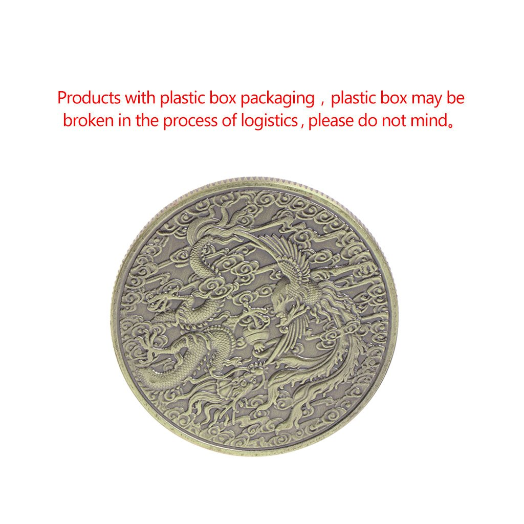Jiamins Pi/èce Comm/émorative Pi/èce comm/émorative Dragon Phoenix Collection Cadeau Souvenir Artisanat Arts Bitcoin Commemorative Collectible Coin