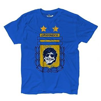 Camiseta camiseta fútbol Vita de Strada del Pibe de Oro Argentina Grunge 1, KTS01713_S,