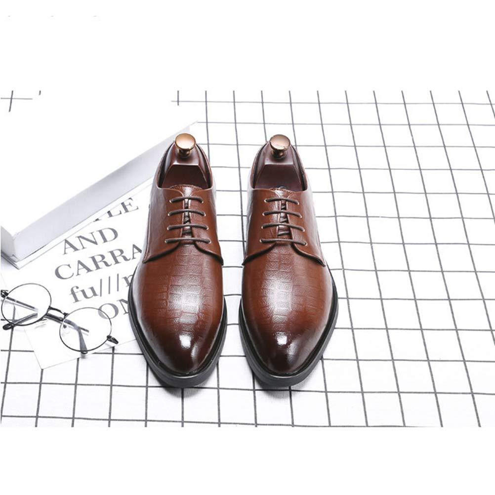 Men Dress Shoes Oxford Shoes Lace-Up Plus Size Party Business Flats for Men