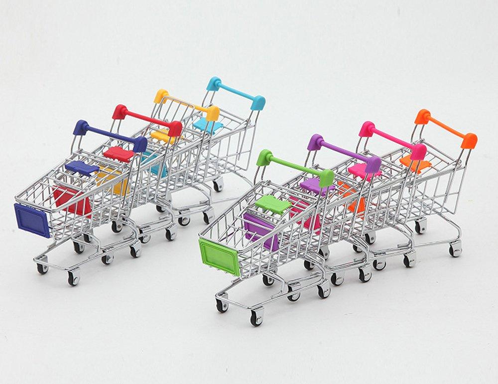 (Green+Purple+Rose red+Light blue) - AITING Mini Shopping Cart Supermarket Handcart Mode Storage Toy 4PCS (Green+Purple+Rose red+Light blue)  Green+Purple+Rose red+Light blue B073TYM625