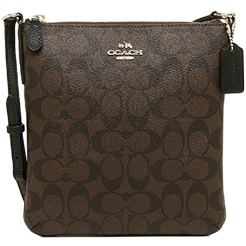 Coach Signature N/S Crossbody - Brown/Black