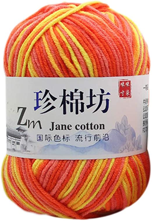 Ovillo de lana para tejer, 50 g, teñido por ovillo, colorido, hilo ...