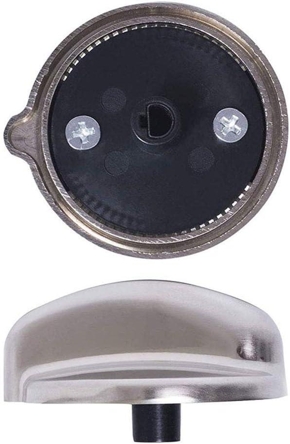 EAP3486484 WB03K10208 AP4980246 2pcs WB03K10303 Range Surface Burner Knob for GE PS3486484 Stainless Steel Cooktop Control Knob Replace 1810427 WB03K10303
