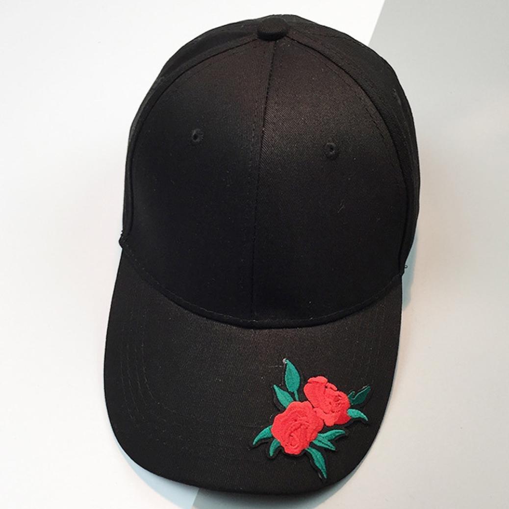 Beautyjourney Casquettes Fille,Casquettes Femme Casquette Femme Noir,Couple Rose Baseball Casquette Unisexe Snapback Hip Hop Flat Hat