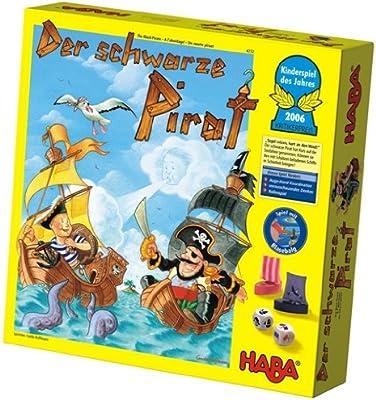 HABA 4232 Der Schwarze Pirat - Juego de Mesa (versión en alemán ...