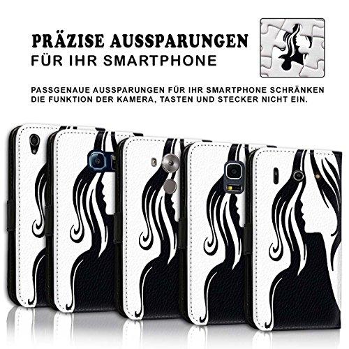 Wallet Book Style Flip Handy Tasche Case Schutz Hülle Schale Motiv Etui für Apple iPhone 5 / 5S - Design Flip MV166