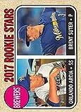 2017 Topps Heritage #267 Orlando Arcia/Brent Suter Milwaukee Brewers Baseball Card