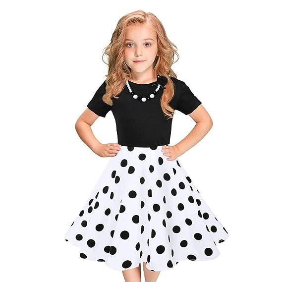 Vestidos de Fiesta de Las niñas de los niños Polka Dot Princesa ...