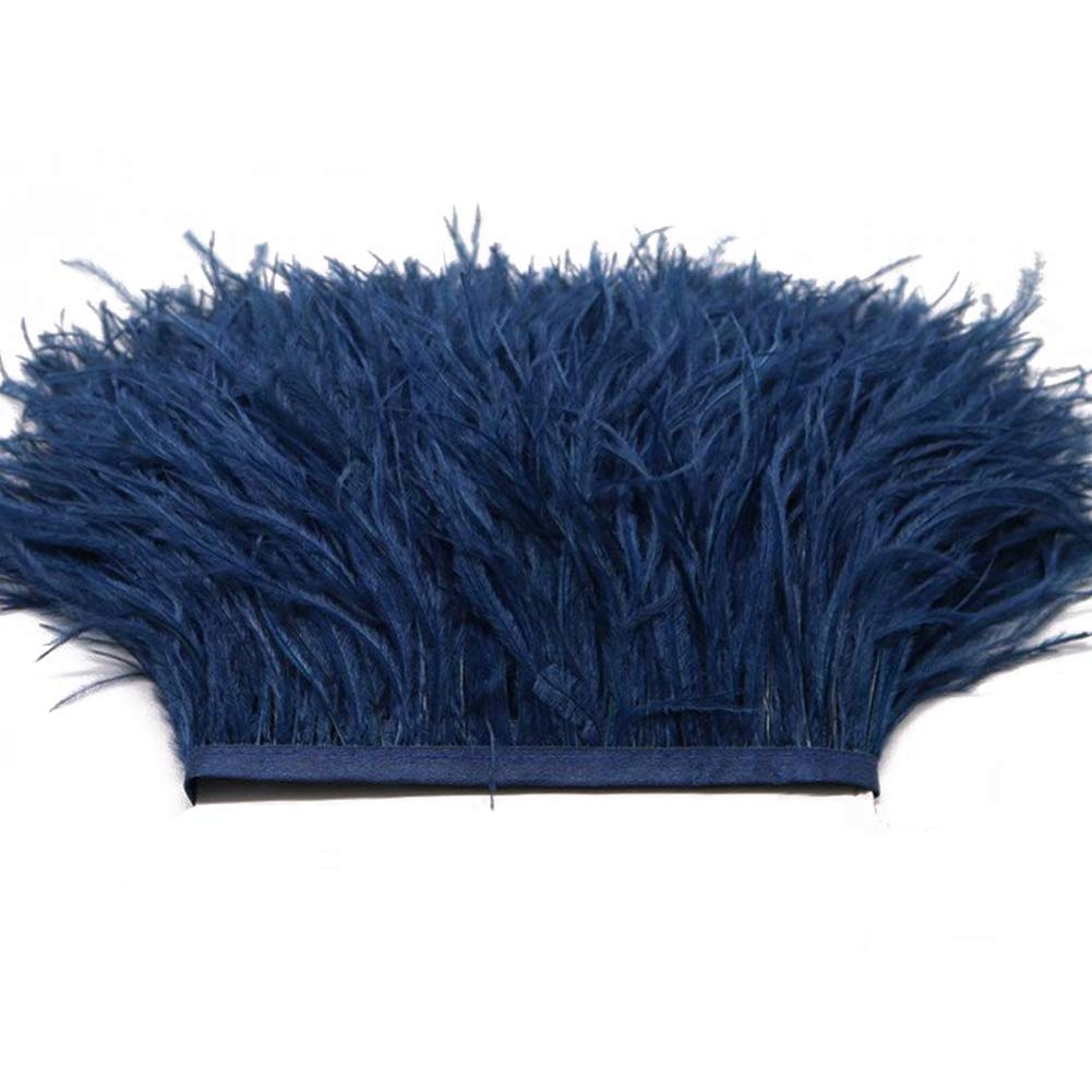 Orange MIPPER 2Yards 4 Ostrich Feathers Trims Fringe Plumes for Costumes Decoration DIY